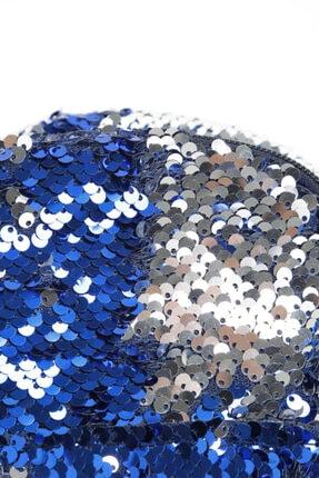 Nanu Kız Çocuk Mavi Çift Taraflı Pul Payetli Çanta 2
