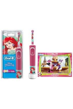 Oral-B D100 Çocuklar Için Şarj Edilebilir Diş Fırçası Princess+puzzle 0