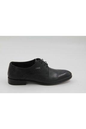 Mercedes Erkek Siyah Bağcıklı Deri Klasik Ayakkabı 0002 0