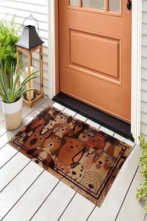 Evsebu Somurtkan Ve Gülen Köpekler Dekoratif Kapı Önü Paspası 1