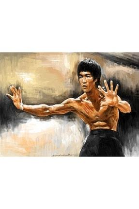 ahşap tablo dünyası Bruce Lee Mdf ,ahşap, Eskitme Tablo Ev,cafe,ofis Dekorasyonu 0