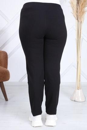 Heves Giyim Kadın Siyah Büyük Beden Şeritli Eşofman Altı 4
