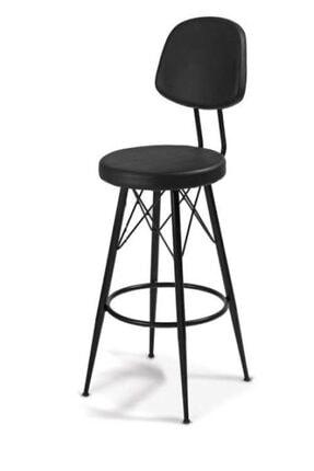 J&S QUALİTY Mutfak Bahçe Cafe Bar Salon Yemek Masa Konforlu Ahşap Gürgen Metal Ayaklı Sandalye 0