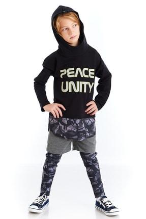 Colorinas Çocuk Siyah Unity Slogan Baskılı Sweatshirt 2