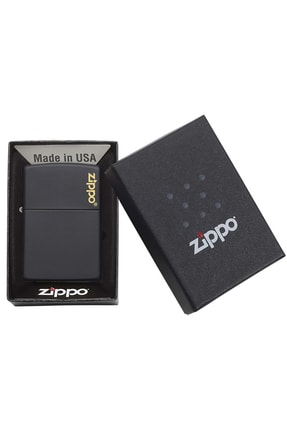 Zippo Çakmak Black Matte Siyah Logo 218Zl-000023 1