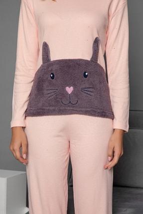 Strawberry Kadın Somon Pamuklu Interlok Pijama Takimi 2