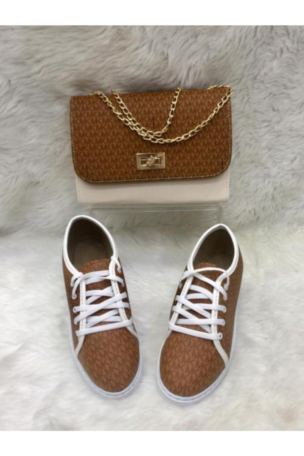 lexıa Kadın Beyaz Çanta Ve Ayakkabı Seti