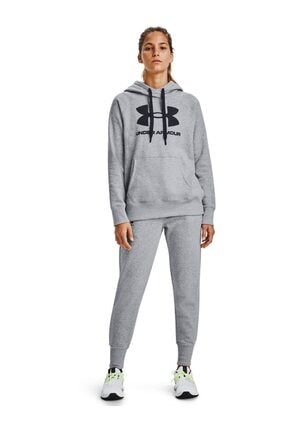 Under Armour Kadın Spor Sweatshirt - Rival Fleece Logo Hoodie - 1356318-035 2