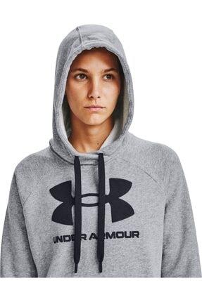 Under Armour Kadın Spor Sweatshirt - Rival Fleece Logo Hoodie - 1356318-035 3
