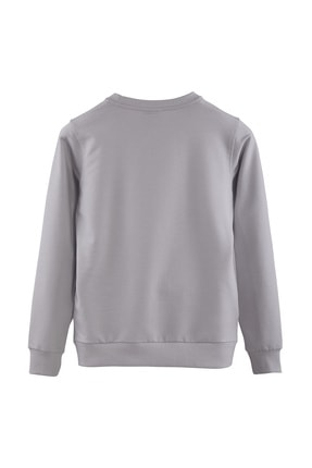 Minimalist Kadın Gri Basic Sweatshirt 1