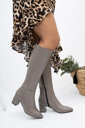 Deripabuc Hakiki Deri Vizon Kadın Deri Çizme Dp02-0404 0