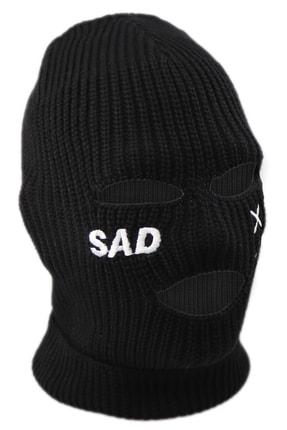 zirve şapka Kışlık Unisex 3 Gözlü Kar Maskesi Siyah 0