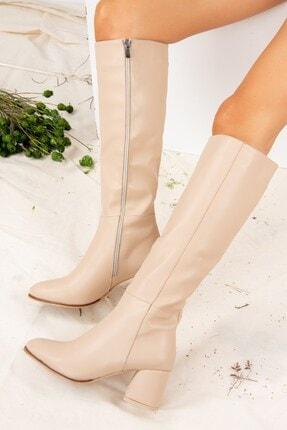 Fox Shoes Ten Suni Deri Kadın Çizme J848300109 2