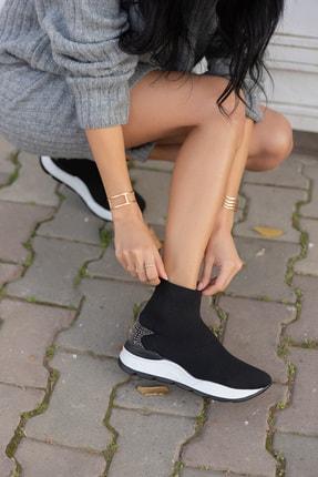 ANGELİNA JONES Damlalla Siyah Trıko Sneakers Bot 3