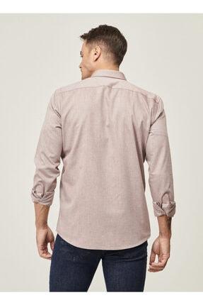 Altınyıldız Classics Erkek Bordo Tailored Slim Fit Dar Kesim Düğmeli Yaka Twill Gömlek 3