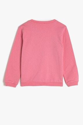 Koton Koton Kız Çocuk Yazılı Baskılı Pembe Sweatshirt 1kkg17388ok 2