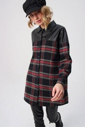 butikburuç Kadın Siyah Üst Deri Gömlek Tunik 2