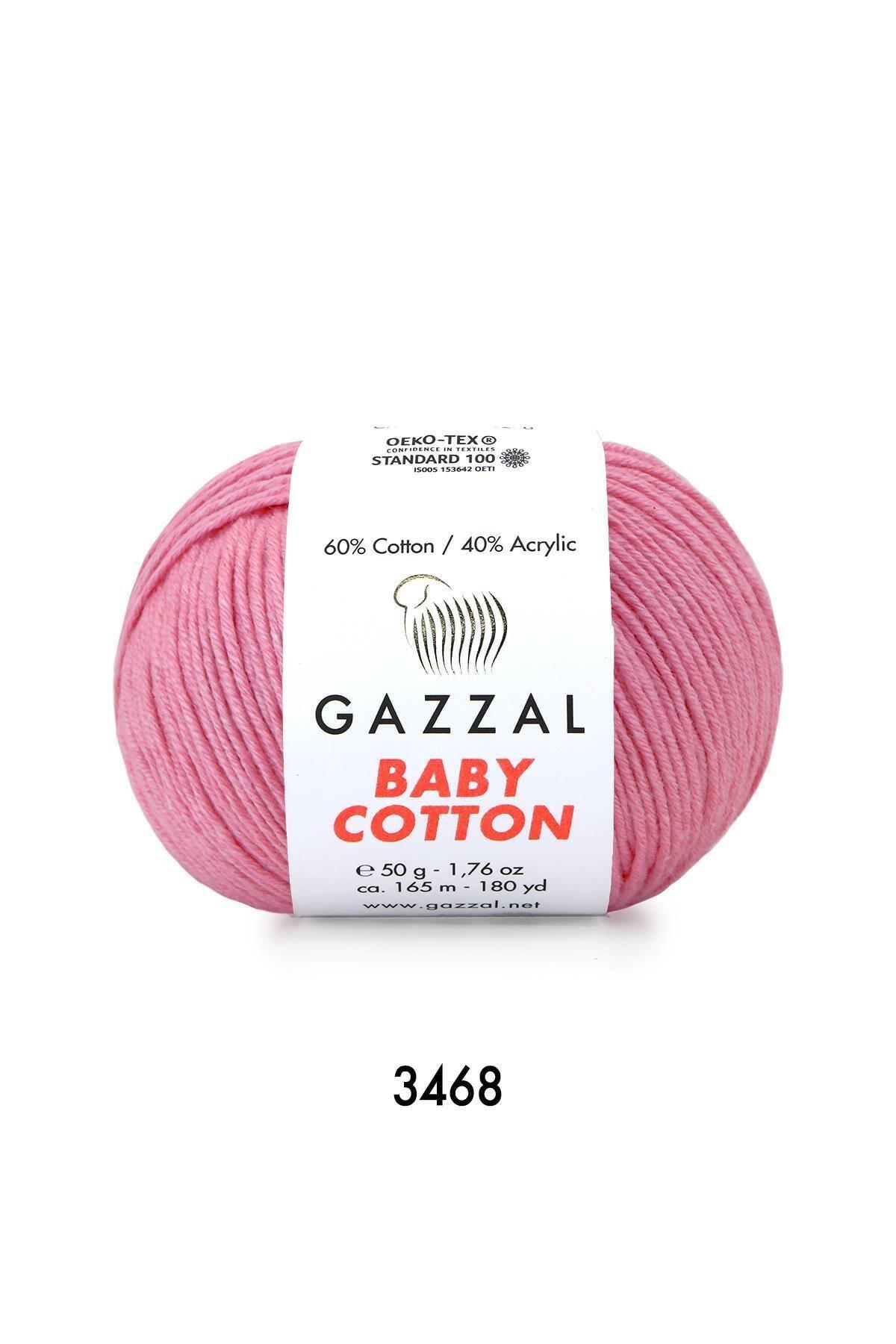Gazzal Baby Cotton 3468 Şeker Pembe 50 Gr.