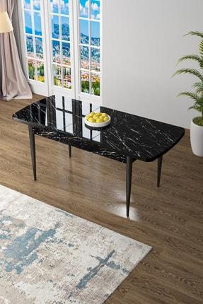 Canisa Concept Zen Serisi Mdf Açılabilir Mutfak Masası, Yemek Masası ,siyah Mermer Desen 1