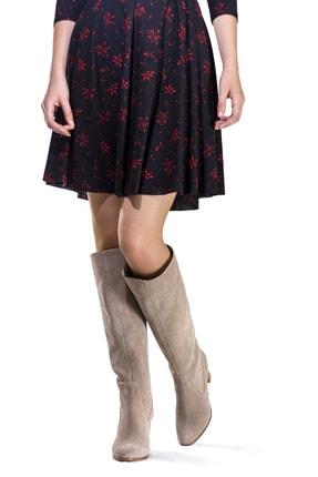 Dantes Kadın Bej Süet Deri Çizme 0
