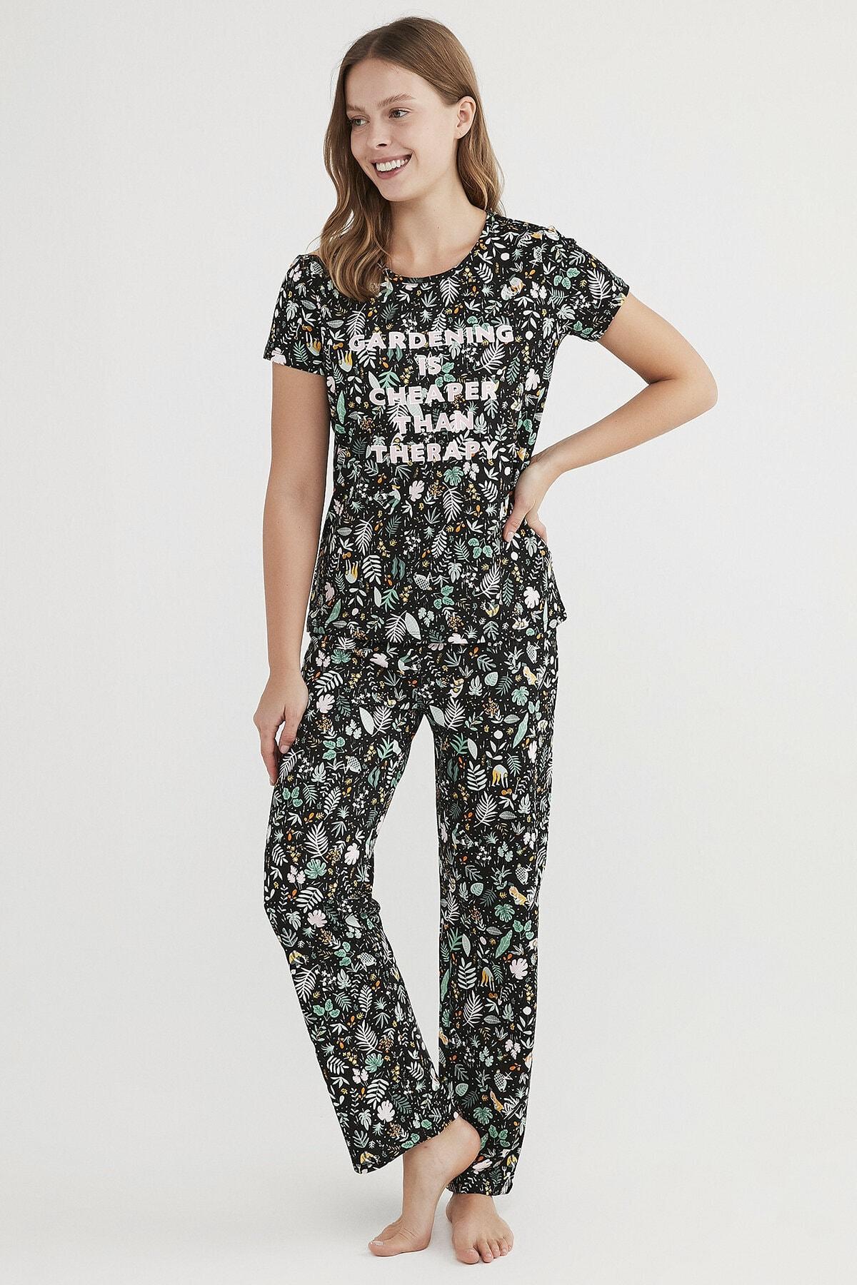 Penti Kadın Çok Renkli Gardening Pijama Takımı 1