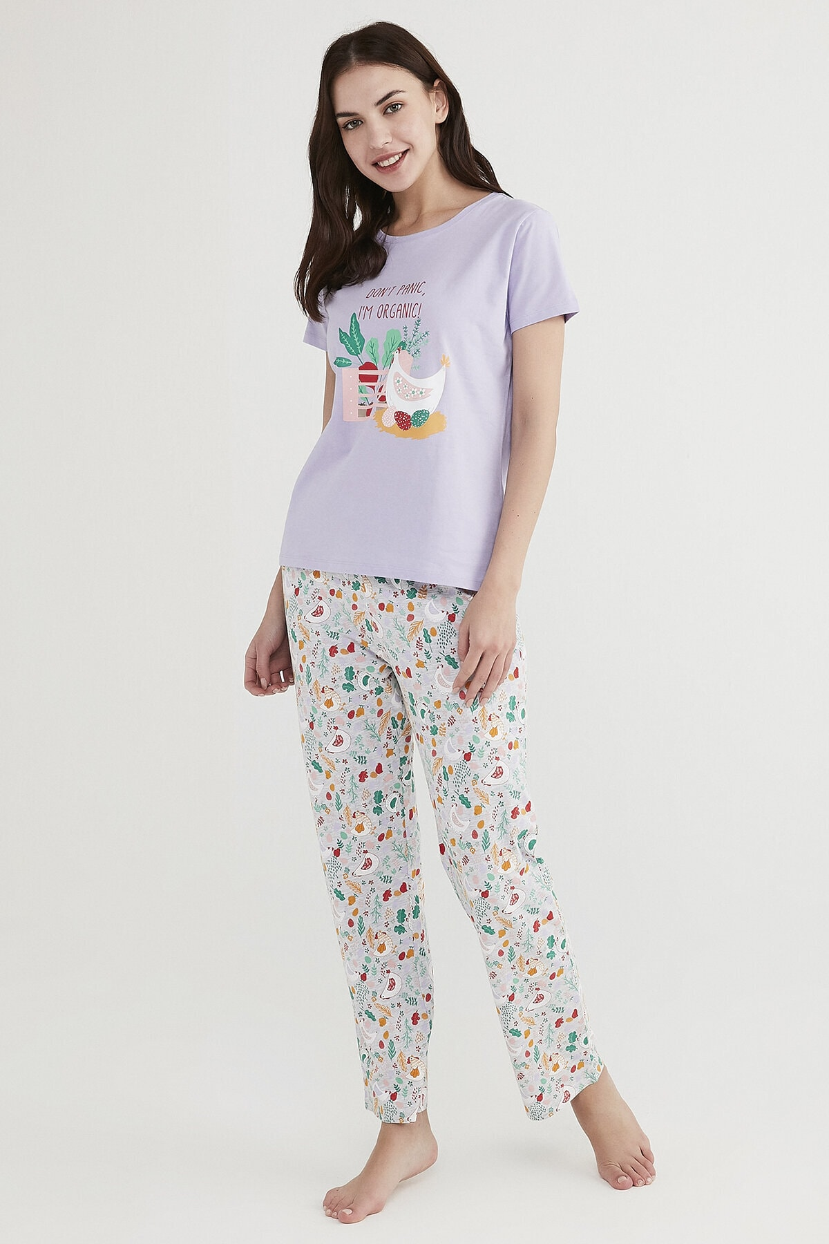 Penti Çok Renkli Don'T Panic Pijama Takımı 1