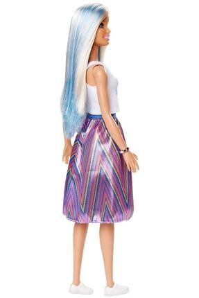 Barbie Fashionistas Bebek ve Aksesuarları Çizgili Renkli Etekli FXL53-FBR37 4
