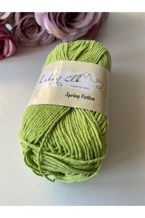 Hobby CLB Fıstık Yeşili Amigurumi Ve Punch (panç) Ipi %100 Pamuk Natürel Koton 1