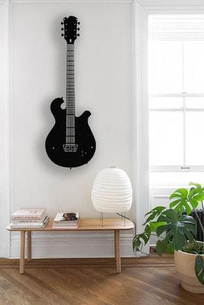 Kumru Dekor Elektro Gitar Dekoratif Metal Duvar Tablosu 60x23cm Büyük Boy 1