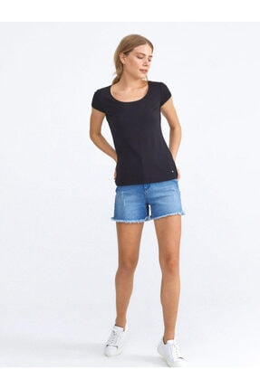 Xint Xınt U Yaka Pamuklu Rahat Kesim Basic Tişört 1