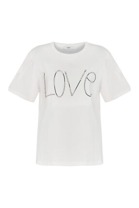Twist Baskı Üzeri Taş Işli Tshirt 4