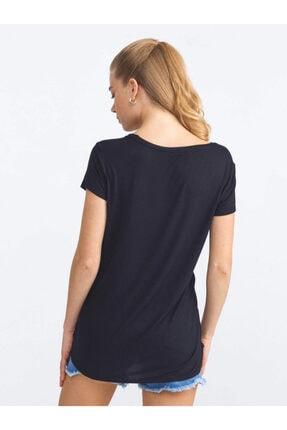 Xint Xınt U Yaka Pamuklu Rahat Kesim Basic Tişört 3