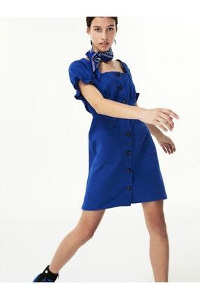 Twist Düğme Kapama Elbise 2