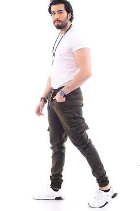 DAMGA JEANS Erkek Haki Kargo Cep Pantolon 1