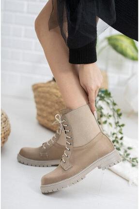 meyra'nın ayakkabıları Vizon Süet Lastikli Postal 2