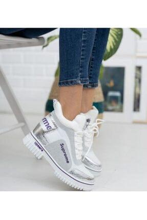 Guja 20k330-2 Kadın Yüksek Topuklu Sneaker Spor Ayakkabı - - 20k330-2 - Gümüş - 36 1