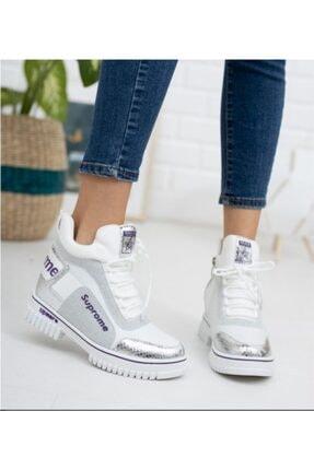 Guja 20k330-2 Kadın Yüksek Topuklu Sneaker Spor Ayakkabı - - 20k330-2 - Gümüş - 36 2