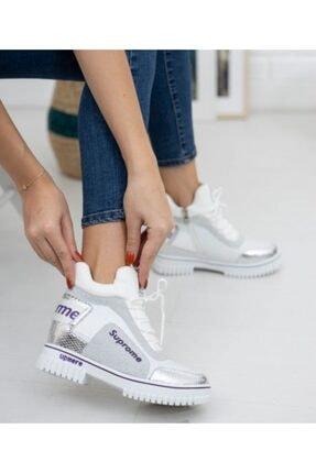 Guja 20k330-2 Kadın Yüksek Topuklu Sneaker Spor Ayakkabı - - 20k330-2 - Gümüş - 36 3