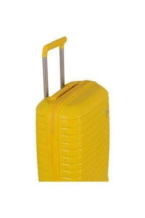 GROUND Polipropilen Kabin Boy Kırılmaz Valiz Sarı 0