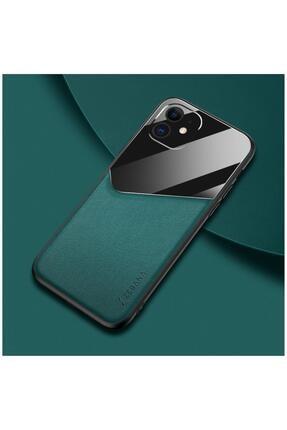Dara Aksesuar Apple Iphone 11 Kılıf Zebana New Fashion Deri Kılıf Yeşil 0