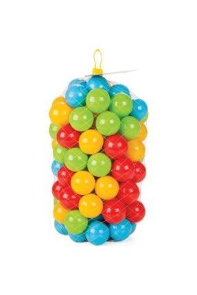 PİLSAN Vardem Kaydıraklı Oyun Seti (Mavi Havuz / 6 Cm 100'lü Oyun Havuz Topu / Pompa / Kırmızı Kaydırak) 2