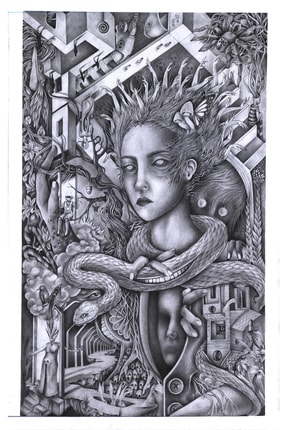 Alaattin Efe Isimsiz, 35x50, Kağıt Üzerine Karakalem 0