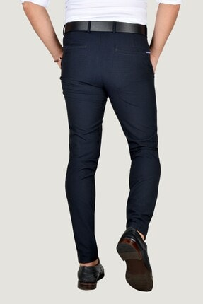 Terapi Men Erkek Lacivert Keten Pantolon 9Y-2200196-008 3