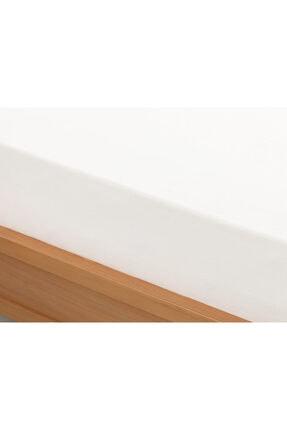 English Home Beyaz Düz 2 Pamuklu Tek Kişilik Lastikli Çarşaf 100x200 cm 1