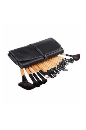 Gold Beauty Bambu Siyah Makyaj Fırça Seti - Profesyonel Çantalı 24 Parça 2170004102036 1