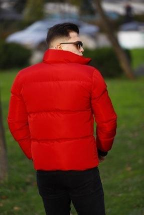 WOWA COMPANY Erkek Kırmızı Şişme Mont 3