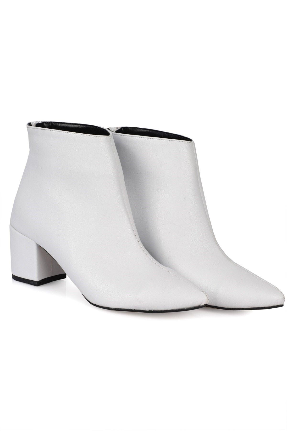Nizar Deniz Beyaz Mat Kadın Çizme - Oblavion Beyaz Alba