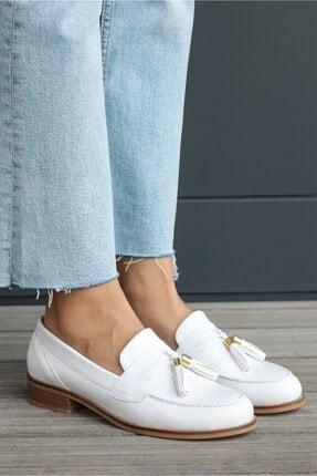 Mio Gusto Dylan Beyaz Oxford Ayakkabı 0