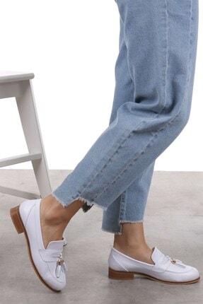 Mio Gusto Dylan Beyaz Oxford Ayakkabı 2