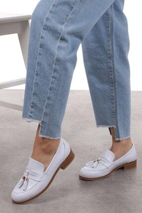 Mio Gusto Dylan Beyaz Oxford Ayakkabı 3